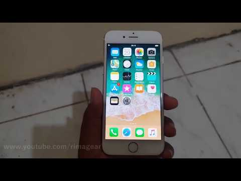 How to turn on or turn off airplane mode on iphone 6 (iOS 11)