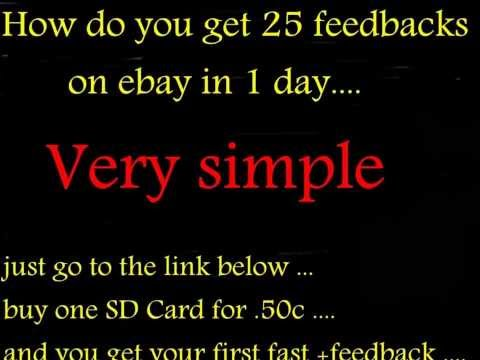 How to get 25 feedback's on Ebay in 1 day