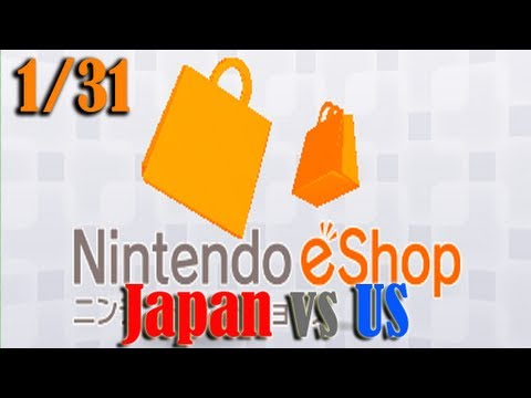 Japan vs US eShop Updates (January 31, 2013)