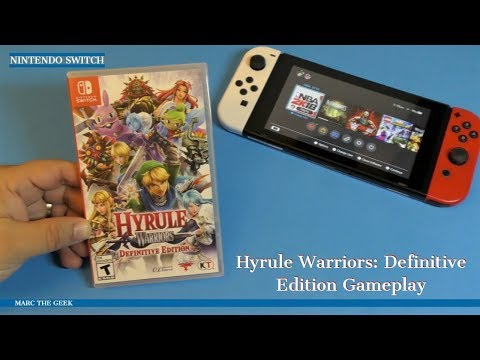 Nintendo Switch Hyrule Warriors: Definitive Edition Gameplay