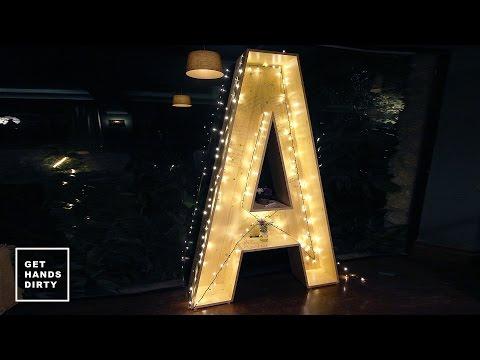 The Big A // Wedding Prop