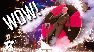 Magician Puts Father on Spinning Wheel on Britain's Got Talent | Magicians Got Talent