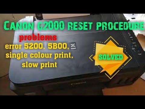 canon g2000 reset error 5200 5B00 / canon g2000 6 blink 7 blink