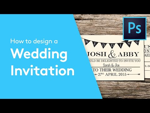 How To Design A Wedding Invitation In Adobe Photoshop | Solopress Tutorial