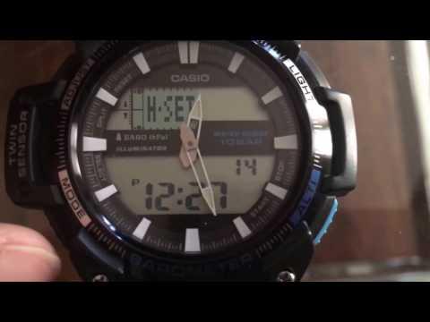 Synchronizing analog and digital time on Casio 5450 sgw-450h