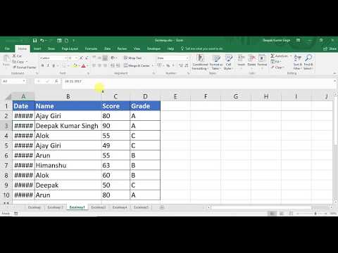 How to Autofit column width in Excel (Hindi)