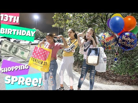 HUGE 13TH BIRTHDAY SHOPPING SPREE WITH MY BEST FRIENDS!