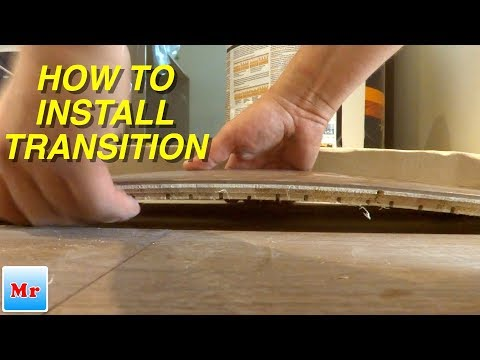 Trick How to Install Wood Floor Flat Transition to Tile - MrYoucandoityourself