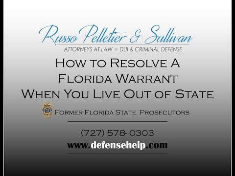 Out Of State Warrants