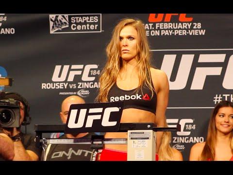 Ufc 184 Ronda Rousey Vs Cat Zingano Main Event Weigh In
