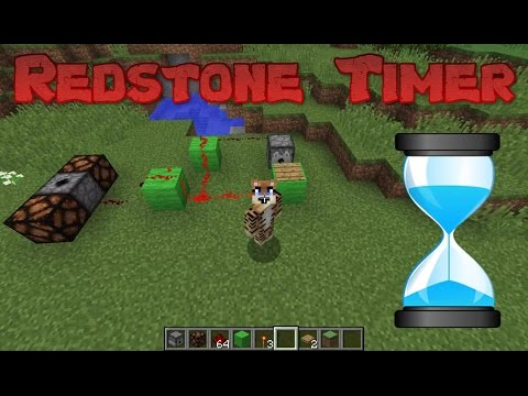 Minecraft Redstone Timer Tutorial - How To Make A Countdown Timer