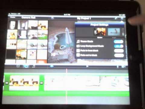 iPad iMovie Shoot, Edit, post to YouTube
