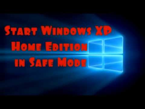 Start Windows XP home edition in safe mode