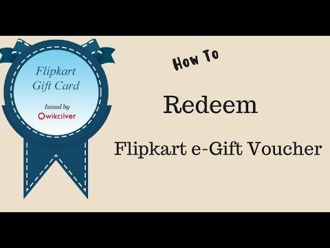 How to Redeem Flipkart e-Gift Voucher