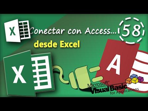 Conectar con Access desde Excel | VBA Excel 2013 #58