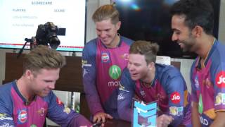 Chicken Scream with Steve Smith, Ajinkya Rahane, Ferguson and Zampa - Let