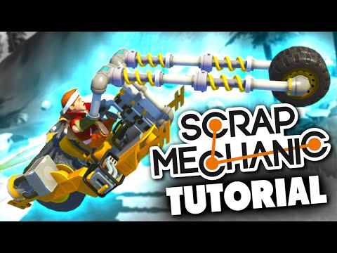 Scrap Mechanic TUTORIAL - TRANSFORMING MOTORCYCLE BIKE - Let's Play Scrap Mechanic Gameplay