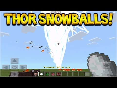 How To Create Thor Snowballs In Minecraft Pocket Edition