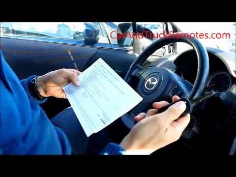 Mazda remote keyless entry key DIY programming, keyfob only (DOORS ONLY)