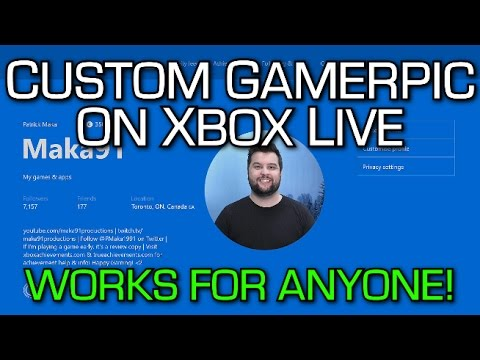 CUSTOM GAMERPIC on Xbox One (Works for Everyone) Tutorial & New Xbox Live Party Chat Overlay Feature