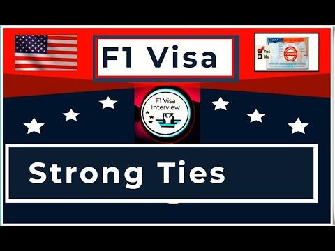 F1 Visa Interview Strong Ties Help