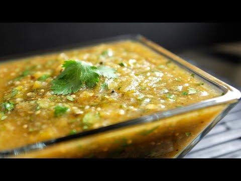Easy Roasted Tomatillo Salsa Verde Recipe - How to Make Roasted Tomatillo Salsa Verde