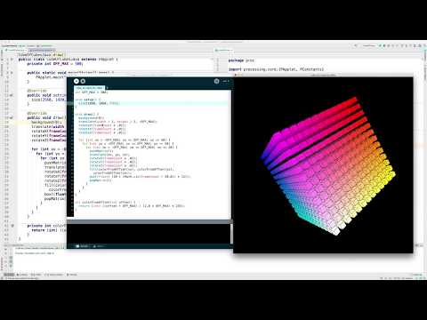 Animated Cube of Cubes with Scala and Processing