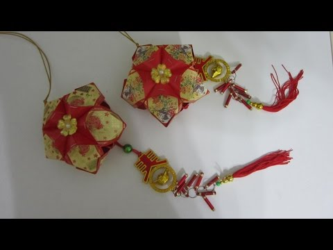 CNY TUTORIAL NO. 15 - How to make Simple Star-shaped Red Packet (Hongbao) Lantern