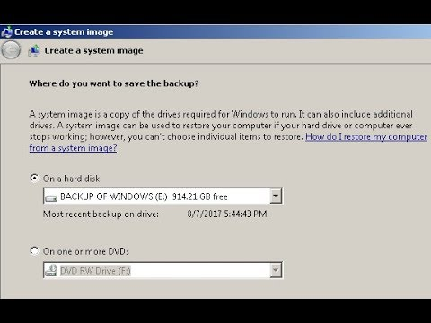 Windows 10, 8.1, 7 -  How to Backup & Restore Your PC With System Image