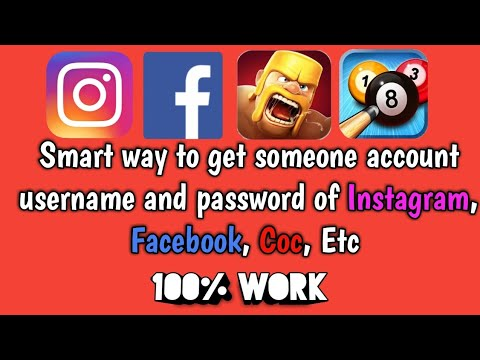 How to get someone facebook, Instagram,twitter etc username and password. [100% Working]