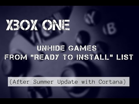 How to Un-hide Games from Ready to Install List -  Xbox One Tutorial