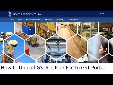 How to Upload the JSon File of GSTR 1 in GST Portal