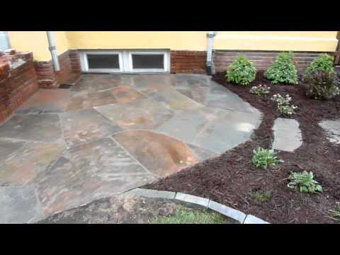 Minneapolis Flagstone (bluestone) Patio and Landscape Design