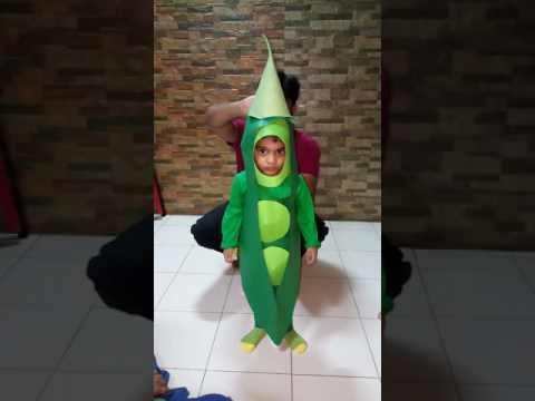 Home made Green Peas Vegetable Fancy dress
