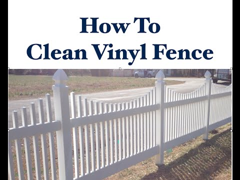 How To Clean Vinyl Fence