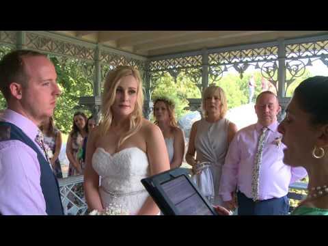 Megan and Daniel Central Park Wedding Ceremony
