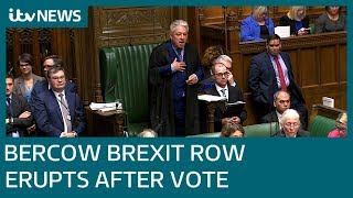 Speaker John Bercow caught in Brexit storm   ITV News