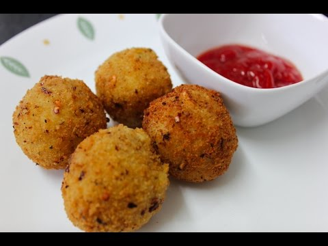 Loaded crispy mashed potato and onion balls starter recipe