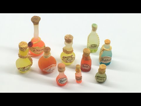 Miniature Wish Bottles- Polymer clay and latex molds (Tutorial)
