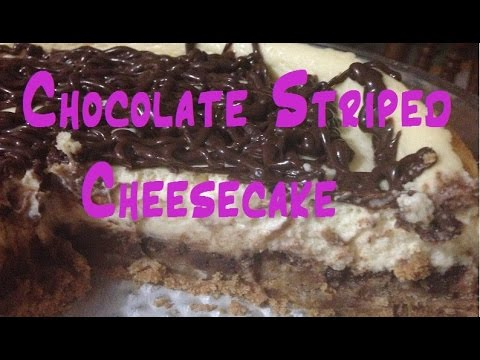 Chocolate Striped Cheesecake