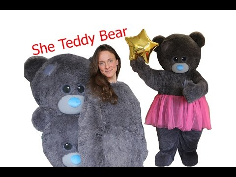 Teddy Bear Girl mascot costume that I made. Suit up and dance)