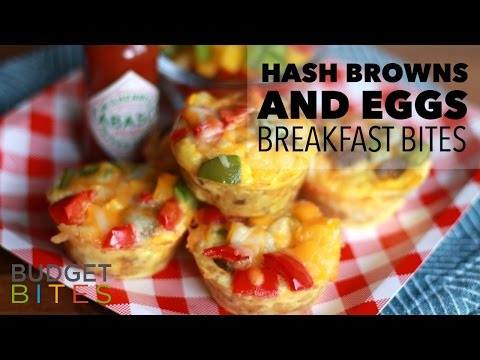 Hash Browns and Eggs Breakfast Bites | Budget Bites
