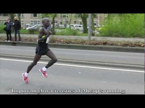 Moses Mosop (Kenya) Running technique / Looptechniek
