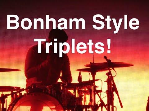 Basic Triplets For Drummers   John Bonham Style Triplets