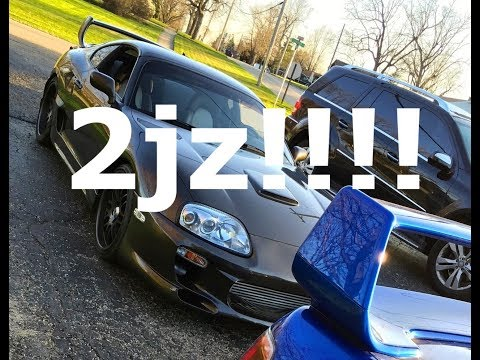 2jz Toyota Supra sounds (Straight pipe) + BOV noises