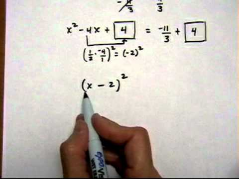 solve quadratic equation by completing the square, a not equal 1 - (cr).mov