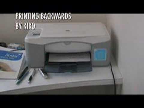 Printing Backwards