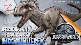lederman studio how to draw indominus rex daikhlo