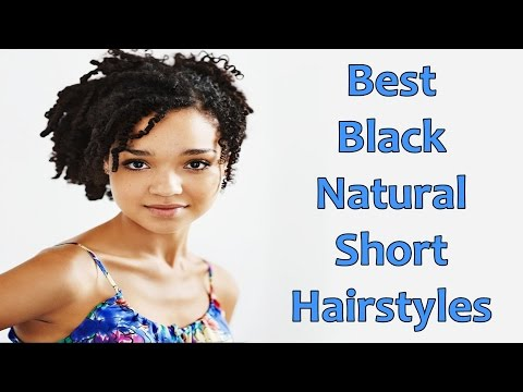 Best Black Natural Short Hairstyles for African American Women