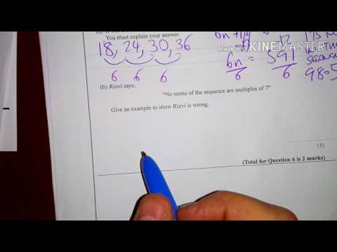 Nth Term,  Linear Sequences  Foundation New GCSE (9-1) Calculator Exam Question